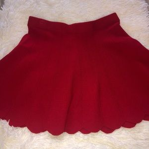 Candie's Flare Red Skirt